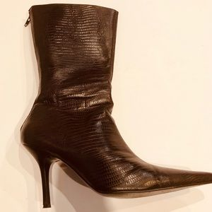 Aldo Faux Crocodile Stiletto Boots